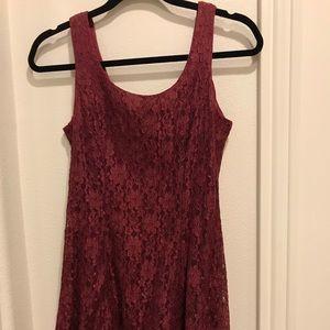Burgandy lace dress